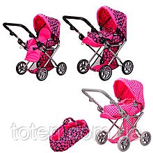 Дитяча коляска для ляльок Мелого Melogo 9346 мікс кольорів