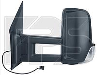 Зеркало лев. ручн. без обогр. текстура выпукл. +УК. пов. -подсвет LONG ARM Volkswagen Crafter 2006-