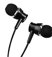 Проводные вакуумные наушники со стерео звуком микрофоном шумоподавляемые вкладыши черного цвета XO S25.