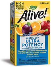 Nature's Way, Alive! Мультивитамин для мужчин старше 50 лет, 60 таблеток