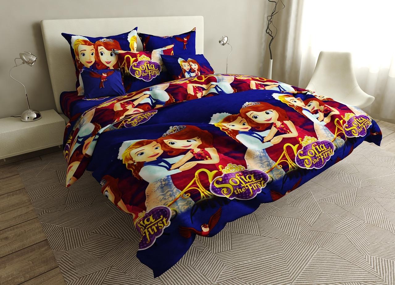 Детский комплект постельного белья 150*220 хлопок (17015) TM KRISPOL Украина