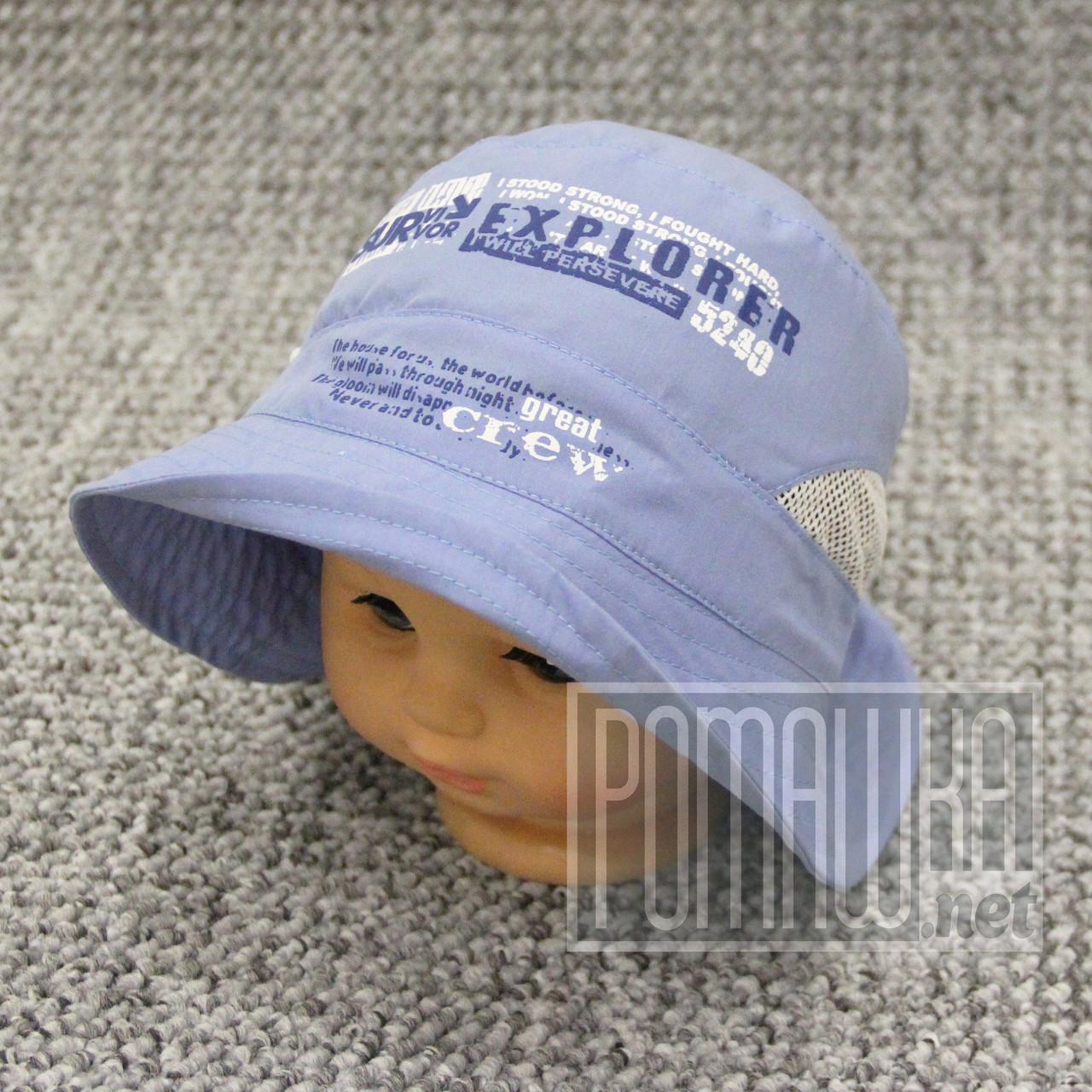 Дитяча р 54-56 3-6 роки легка літня стильна панамка панама для хлопчика на літо бавовна 3625 Синій 54