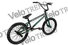 Трюковий велосипед ВМХ-5 20 ДЮЙМІВ зелений, фото 3