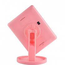 Настольное косметическое зеркало с подсветкой для макияжа Magic Large LED Mirror 22 Розовое, фото 3