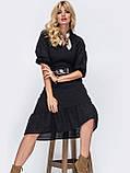 Летнее платье из прошвы длиной миди и рукавом три четверти, фото 5
