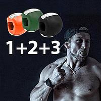 3 УРОВНЯ (1, 2 И 3 + шнурки ). Тренажер для жевательных мышц, для мышц нижней челюсти, эспандер для лица, скул