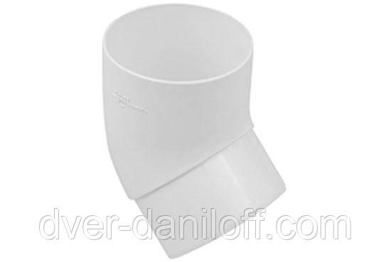 Колено трубы Альта-Профиль Стандарт 45 градусов 74 мм белый, фото 2