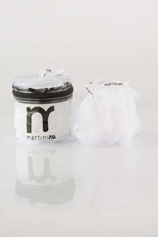 MARTINI SPA Exfoliating Net Sponge In Box Сітчаста масажна мочалка в упаковці (біла)