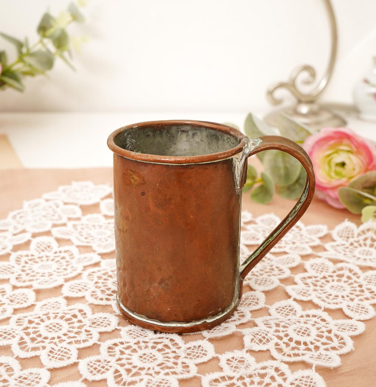 Дуже старий мідний кухоль, кухлик, мідна чашка, мідь, Німеччина, 250 мл