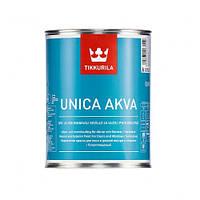 Краска акрилатная для окон, дверей и садовой мебели Tikkurila Unica Akva 0,9 л (Прозрачная)