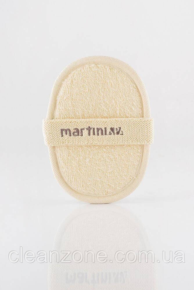 MARTINI SPA Exoliating Pad In 100% Loofan And Pure Cotton Мочалка для душу із люфи