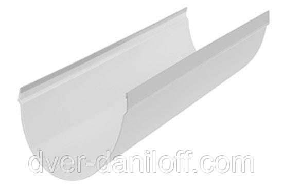 Жолоб водостічної системи Альта-Профіль Стандарт 115 мм 3 м білий, фото 2