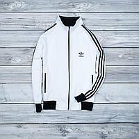 Белая мужская спортивная олимпийка Adidas