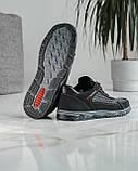 40 Розмір!!! Кросівки чоловічі літні сітка чорні (Кл-54тср), фото 7