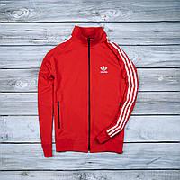 Красная мужская спортивная олимпийка Adidas