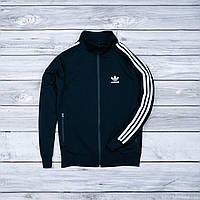 Черная мужская спортивная олимпийка Adidas