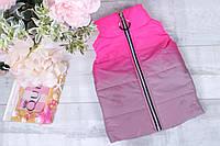 Демисезонная детская светоотражающая жилетка для девочек 4-8 лет,малинового цвета