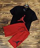 Футболка мужская 2XL(р) черная 1014-20 Jordan Турция Лето-C, фото 2