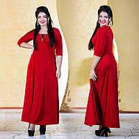 """Элегантное длинное вечернее платье в больших размерах 594 """"Глория"""" в расцветках, фото 1"""