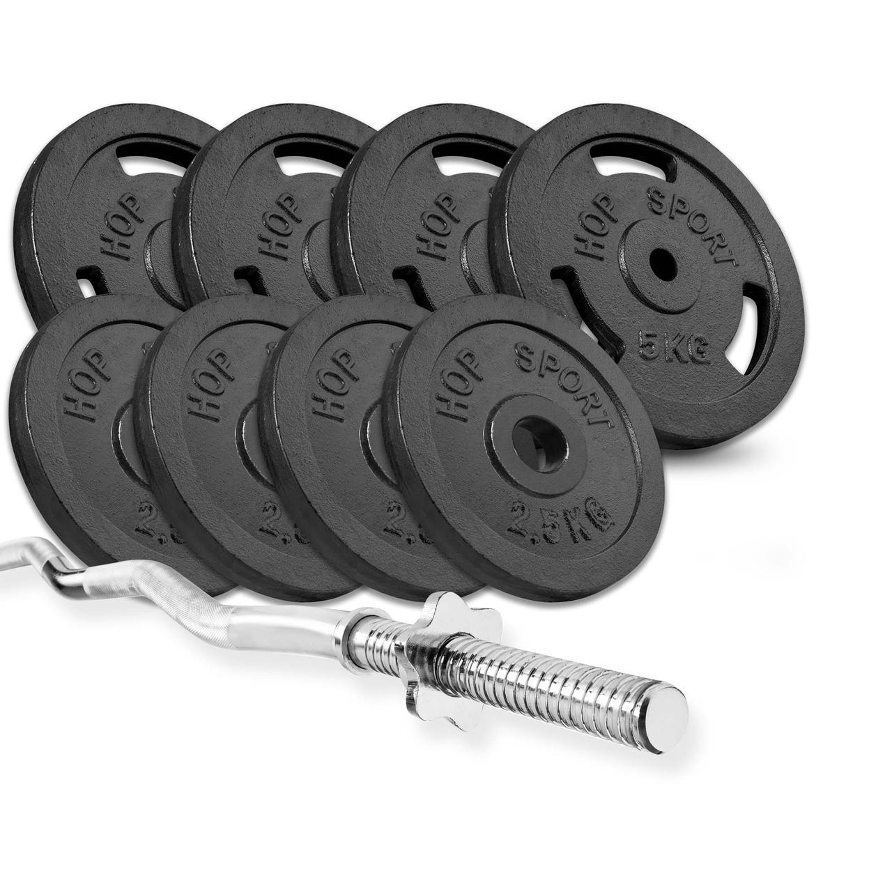 Штанга 37 кг STRONG з W-подібним або Z-образнам грифом на вибір