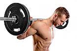 Штанга + Гантелі Набір 76 кг STRONG (гриф прямий, гриф вигнутий, гантельные грифи), фото 4