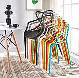 Пластиковий стілець SDM Мастерс жовтий з підлокітниками, фото 4