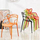 Пластиковий стілець SDM Мастерс жовтий з підлокітниками, фото 5