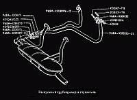 """Глушитель выхлопа ЗАЗ-968 / """"глушак на сороковку"""". Глушитель Запорожец. Трубы глушителя приемные на ЗАЗ-968"""