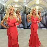 Платье в пол с необычным дизайном 4 цвета