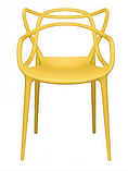 Пластиковий стілець SDM Мастерс жовтий з підлокітниками, фото 3
