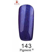 Гель-лак F.O.X. № 143 синий кобальт с микроблеском  6 ml