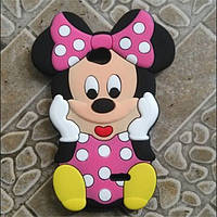 Резиновый 3D чехол для LG L70 D325 Minnie Mouse