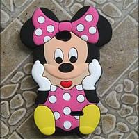 Резиновый 3D чехол для LG L70 D325 Minnie Mouse, фото 1
