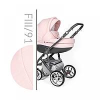 Детская универсальная коляска 2 в 1 Baby Merc Faster Style 3 FIII / 91 A Розового цвета