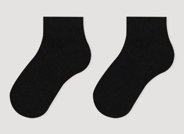 Носки детские укороченные хлопковые Bross черные