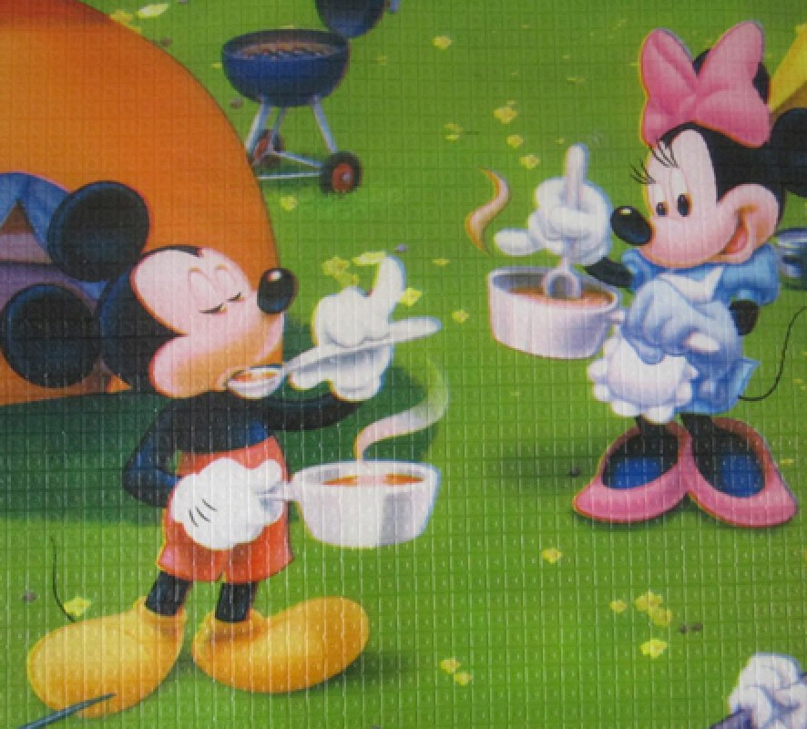 Развивающий коврик Babypol 1800x2000 Любимые герои (Микки Маус/Винни-П, фото 1