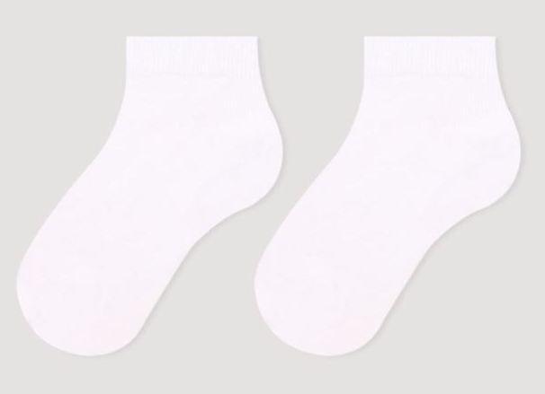 Шкарпетки дитячі укорочені бавовняні Bross білі