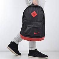 Молодежный городской рюкзак Nike / Найк спортивный Черный с красным