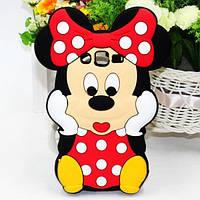 Резиновый 3D чехол для Samsung Galaxy Grand Prime G530 / G531H Minnie Mouse, фото 1