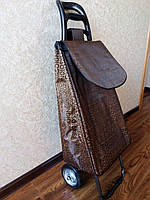 Сумка тележка хозяйственая на железных колесах