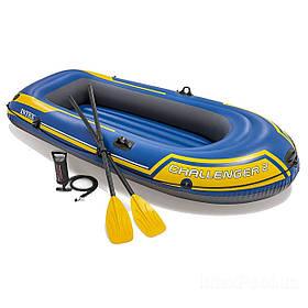 Двомісна Intex надувний човен 68367 Challenger 2 Set, 236 х 114 см, з веслами і насосом