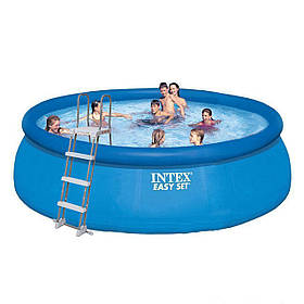 Надувний басейн Intex 26168 - 1, 457 х 122 см (сходи, тент, підстилка)