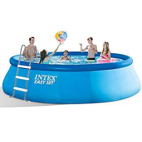 Надувний басейн Intex 26166 - 1, 457 х 107 см (сходи, тент, підстилка)