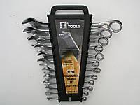 Набор ключей рожково-накидных хромированные 12 шт.