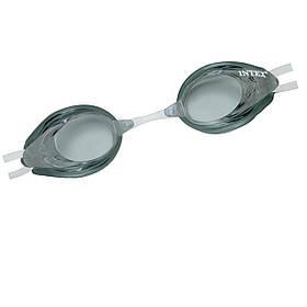 Дитячі окуляри для плавання Intex 55684, розмір L, (8+), обхват голови ≈ 54 см, сірі