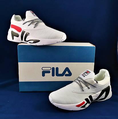 Кроссовки FILA Белые Мужские Фила (размеры: 41,42,43,44,45) Видео Обзор, фото 3