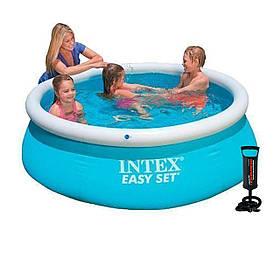 Надувний басейн Intex 28101 - 2, 183 х 51 см (тент, підстилка, насос)