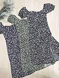Летнее черное приталенное платье с разрезом 26-429-2, фото 9