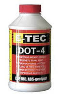 Гальмівна рідина E-TEC ДОТ-4 пластикова каністра 0,5л