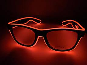Неонові окуляри для вечірок помаранчеві